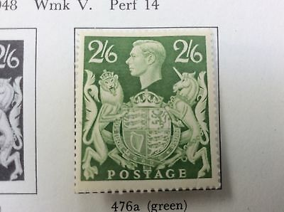 1939 SG476a green mint mounted