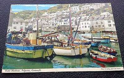 Dated 1975, Outer Harbour, Polperro, Cornwall, Used, Posted Postcard