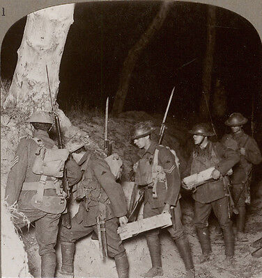Our Troops Leaving on a Night Operation to Cut Off the Hun at Villers-Bretonneux