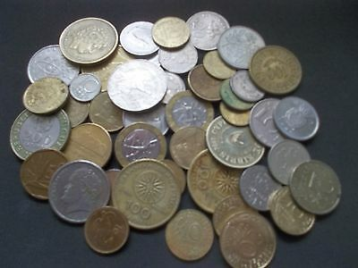 45 WORLD  COINS ALL FROM THE 1990s [#H430]NO DUPLICATES WELL WORTH A LOOK