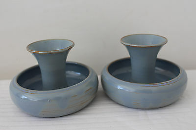 Prinknash Pottery - Posy Vase / Candle Holder - Vintage Abbey Studio x2