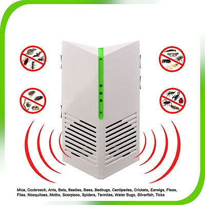 ** Ultrasonic Electronic Rat Mouse Mice Spider Insect Pest Repeller Deterrent **