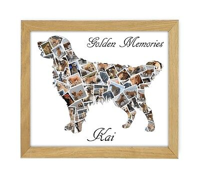 Personalised Pet Memorial Collage Handmade For You With Your Dogs Pictures