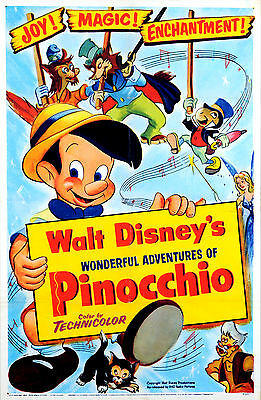 Pinocchio Laminated Mini Movie Poster Disney A4 Print Style 6