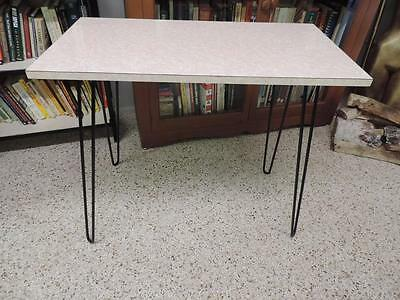 Vintage Mid Century Crackled Ice Pink Table