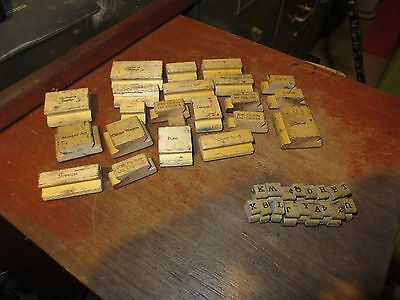 Vintage Wood Printers Blocks