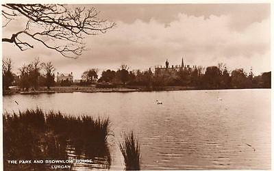 Park & Brownlow House Lurgan unused RP old pc National