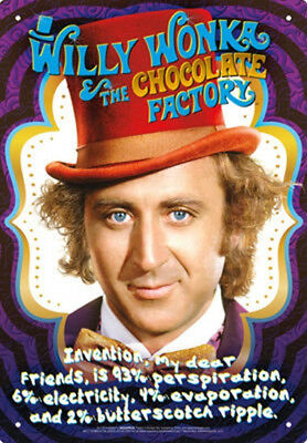 Willy Wonka and the Chocolate Factory Recipe Photo Image Tin Sign Poster NEW