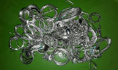 5.1 Ounces of Scrap Sterling Silver Jewelry Pieces