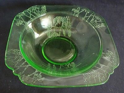 Federal USA Sylvan / Parrot Green Soup Bowl  Depression Era