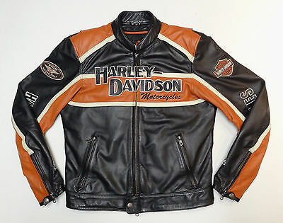 Harley Davidson Classic Cruiser 98118-08Vm Leather Jacket Medium Med 191