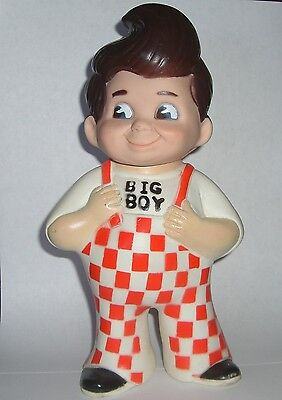 "Bobs Big Boy 9"" Tall Rubber Coin Bank 1973 Marriott Corp."