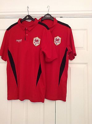 mens Cardiff City FC polo shirts bundle small