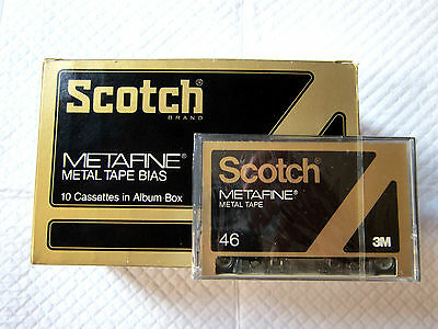 CASSETTE TAPE BLANK SEALED - 1x (one) SCOTCH METAFINE 46 (type IV) METAL '79 eur