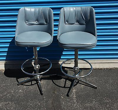 Vintage 2 Admiral Industries Chrome bar chairs stools