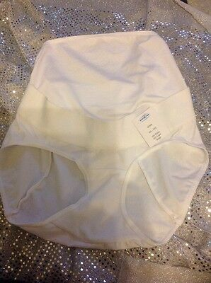 Ladies Maternity Briefs by Naturana (80508) White Size Large - 14s. Cotton Mix