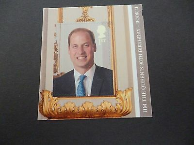 H.M The Queen 90th Birthday  from booklet Error Line Thro Prince Williams Face