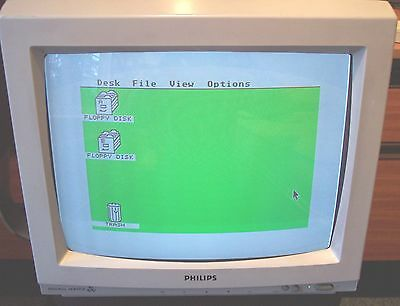 Philips CM 8833 colour monitor SCART Atari Amiga Amstrad BBC Sinclair retro CCTV