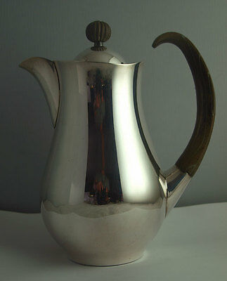 Exceptionally Rare Eric Clements Modernist Solid Silver Coffee Pot - Sheff. 1962