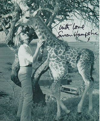 Susan Hampshire In Person Signed Photo - Living Free - AG229