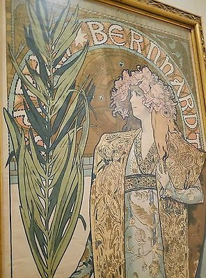 """GISMONDA"" by Alphonse Mucha, c. 1895, Original Poster, France. VERIFIED! RARE!"