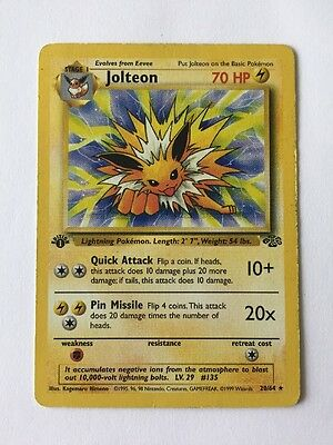 1st Edition Jolteon Rare (P) | Jungle 20/64 | Pokemon TCG