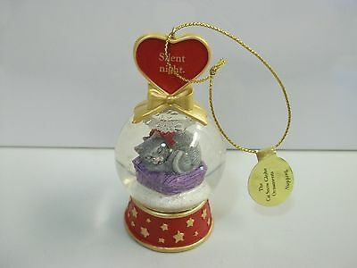 Danbury Mint CAT Silent Night / Napping SNOW GLOBE Christmas Ornament FREE SHIP!