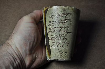 Antique Gold Ore Mining Assay  Crucible  4 Inches Tall