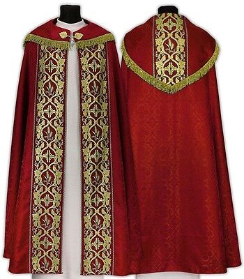 Rot Rauchmantel, Pluviale , Kasel ,Casula, Chasuble, Vestment K012-C25f