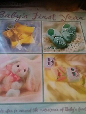 Baby''s First Year Calendar - Over 80 Stickers Included NEW Sealed
