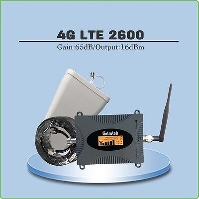 4G LTE 2600 Mobile Signal repeater (LTE Band 7) Gain 65dB with Antenna and cable