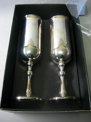 Pair silver plated tableware / goblets
