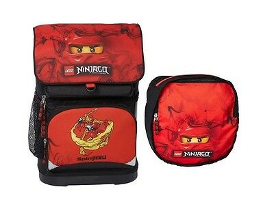 LEGO NINJAGO Masters of SpinJitsu SCHOOL BACKPACK + ATTACHABLE Gym Bag Official