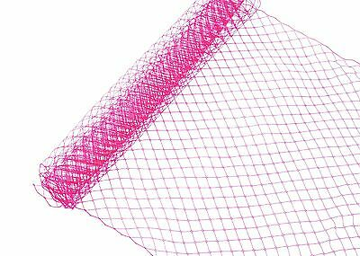 "Russian Birdcage Veil Millinery Netting 10"" Wide - Hot Pink - Sold by the Yard"