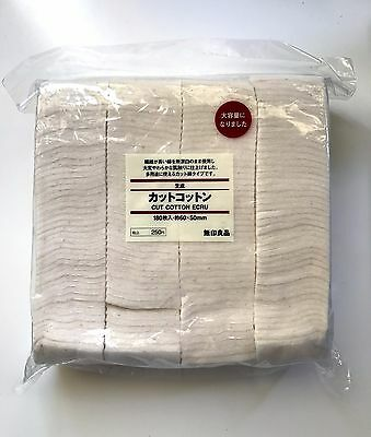 US Seller-24 sheets Unbleached MUJI Japanese Organic 100% Cotton Pads Makeup