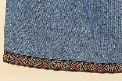 Duo Embroidered Maternity Jean Skirt, Women's Size Medium