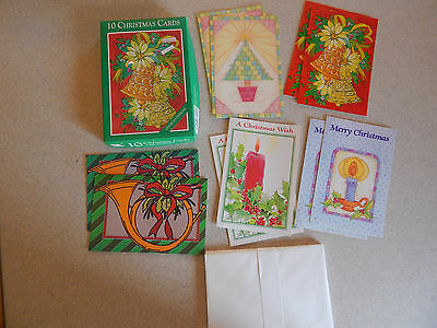 Box of 10 Vintage Christmas Cards By Fantus Fantusy Unused New Old Stock #C