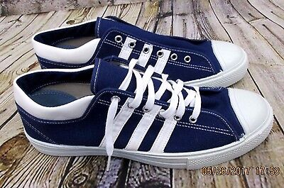 NEW Vtg. 70's  KEDS Shoes Sneakers Navy Blue 3 STRIPES  mens 11.5 MM631 NOS