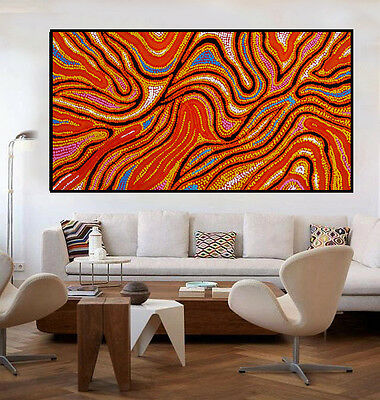 Huge130cm by 70cm contemporary abstract dot paintingby Anna Narnina