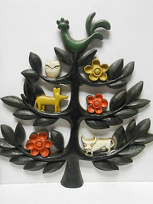 Vintage 1963 HOMCO Dart Ind. Wall Decor Tree Of Life Animals 4770A