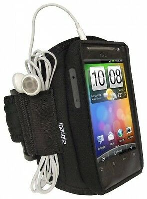 IGadgitz Black Water Resistant Neoprene Sports Gym Jogging Armband For HTC S