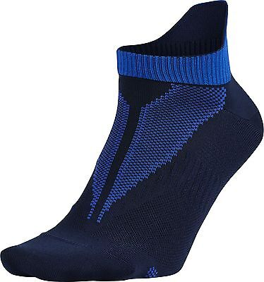 NEW Nike Elite LightWeight No-Show Tab Navy/Hyper Cobalt Socks Men's 10-11.5