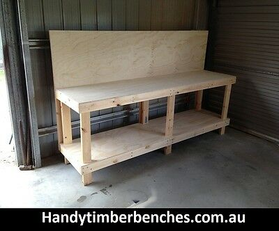 Timber work Bench with Back Board