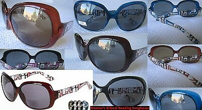 New Women's Bifocal Butterfly Sport Reader Sunglasses Powers 1.50 2.00 2.50 3.00