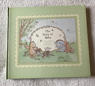 """Classic Winnie the Pooh """"The Story of Baby"""" Memory and Photo Book"""