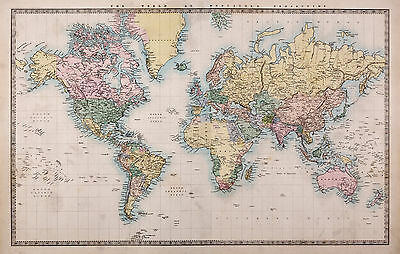 map of world full POSTER print A1 FOR GLASS FRAME world globe