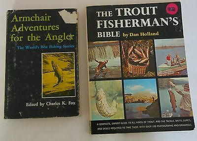 Vintage Fishing Books Trout Fisherman Bible & Armchair Adventures For The Angler