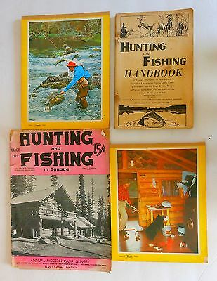 Vintage Hunting & Fishing Lit. 1944 109 Pages &  1945 38 Pages + Picture Pads