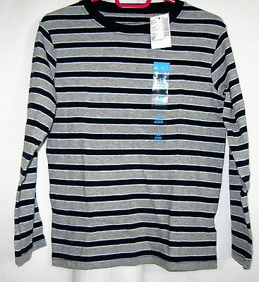Boys 4T Navy Gray & Light  Blue Striped L/s Shirt Nwt ~ The Children's Place