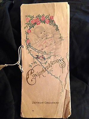 Antique Baby Book Detroit Creamery 1906 Advertising Promotion